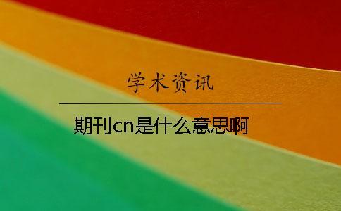 期刊cn是什么意思啊
